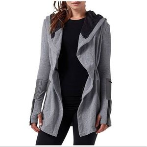 NWT Blanc Noir Traveler Hooded Tie Waist Jacket sm